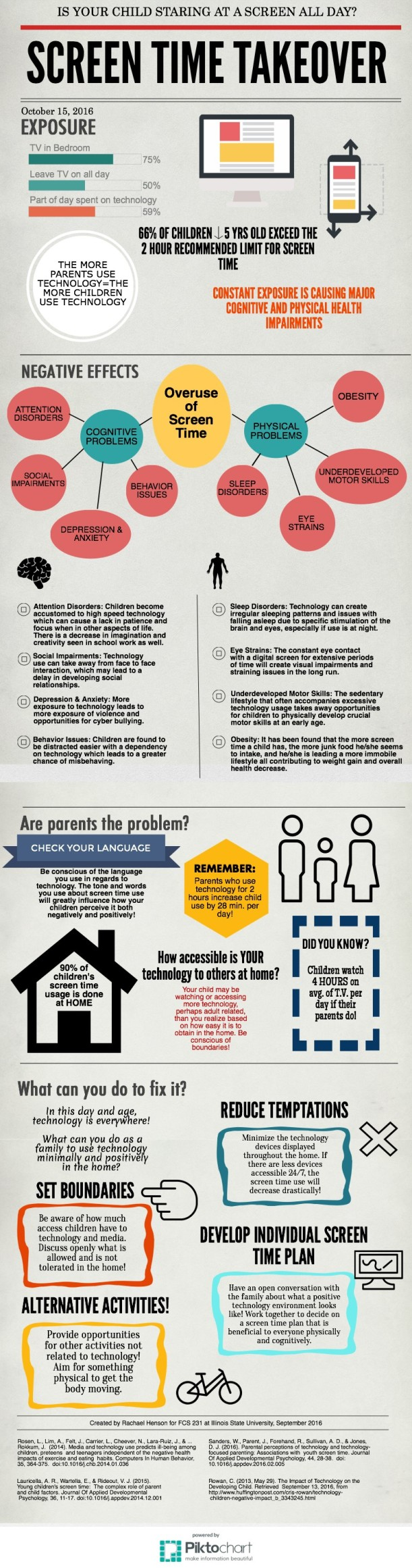 Screen Time Takeover Infographic by Rachael Henson